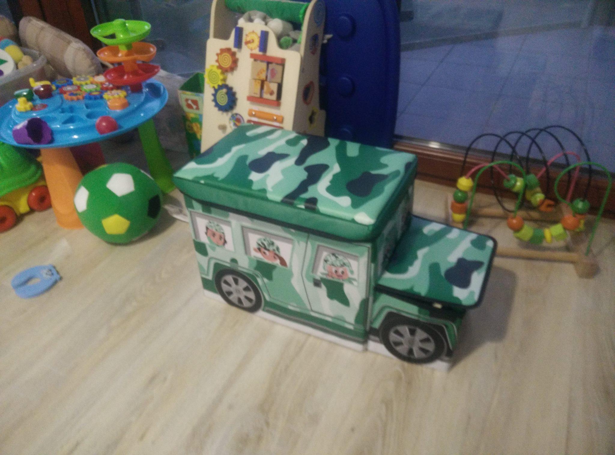 """Pojemnik na zabawki """"Czołg"""" (Wóz militarny)"""