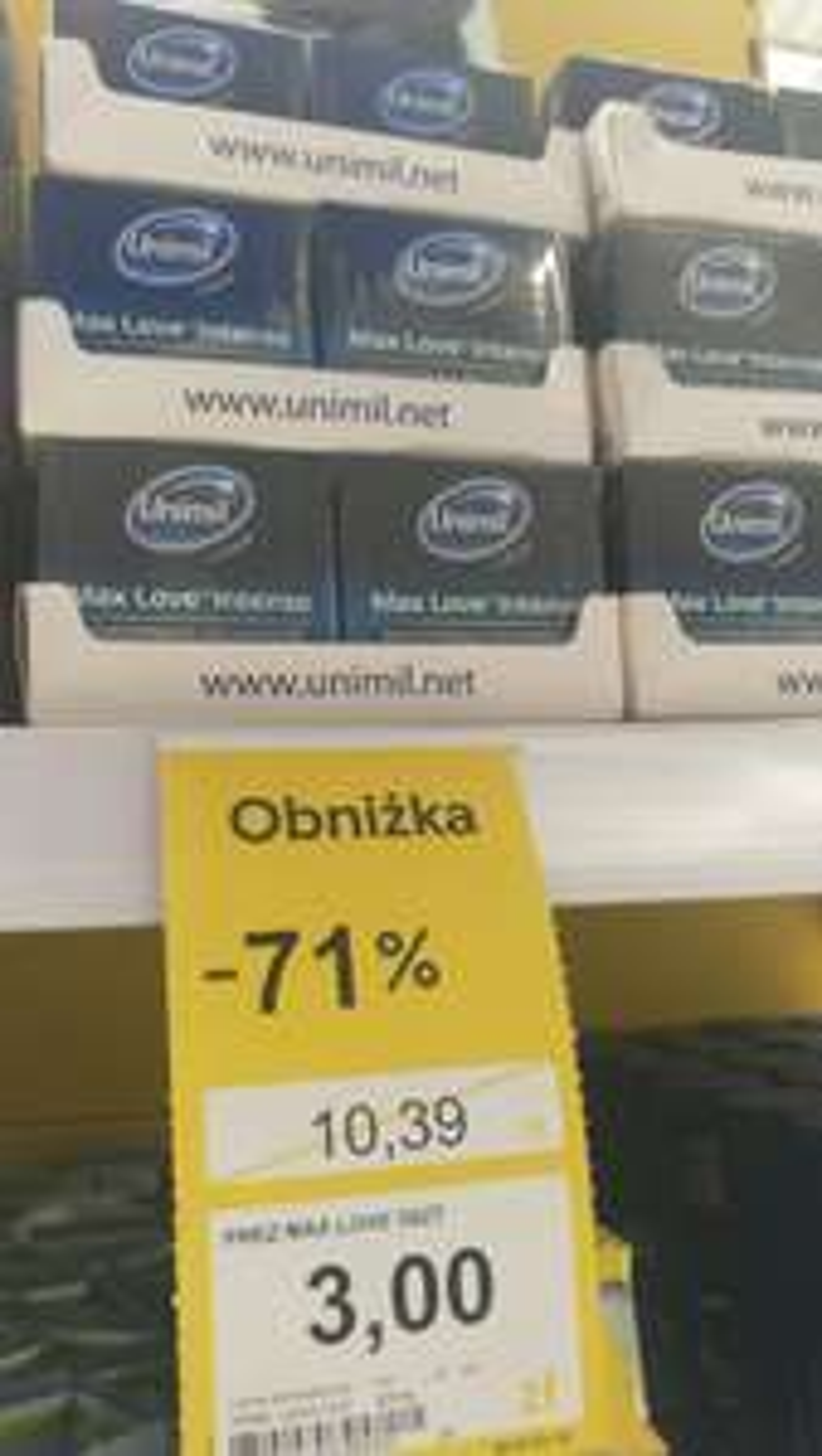 Prezerwatywy Unimil - Max Love Intense / Tesco Kabaty