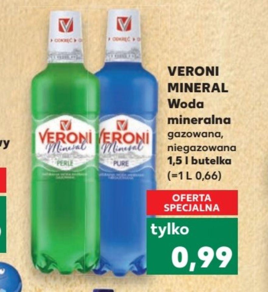 Veroni Mineral gazowana i niegazowana. Kaufland od 21.03