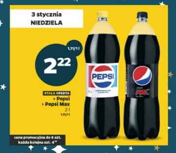 Pepsi oraz Pepsi Max 2l za 2,22 zł @ Netto