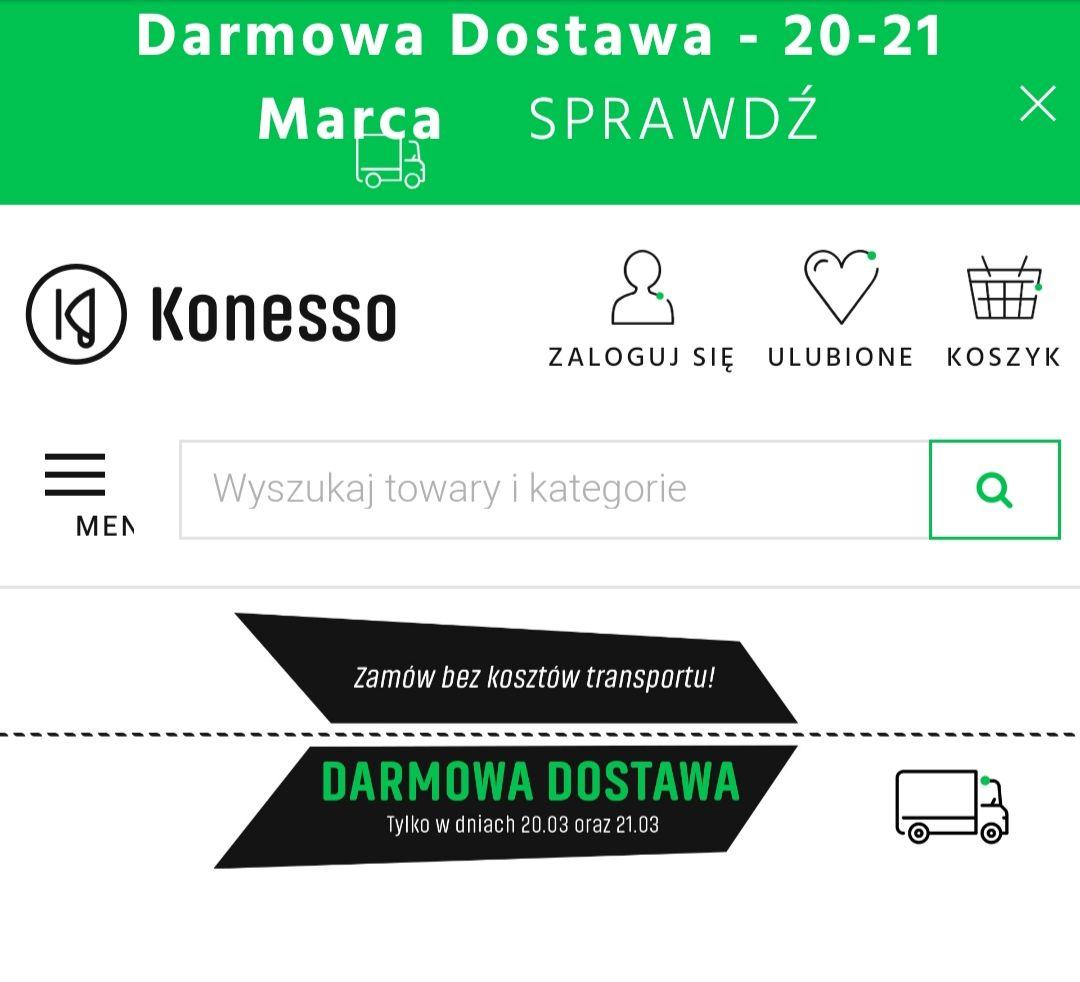 Darmowa dostawa w sklepie internetowym z kawą, herbatą, ekspresami oraz akcesoriami 20-21 marca @Konesso