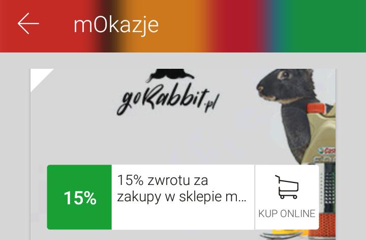15% zwrotu za zakupy w internetowym sklepie motoryzacyjnym goRabbit @mbank