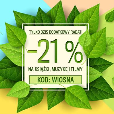 Rabat -21% łączący się z promocjami na kulturalnysklep.pl