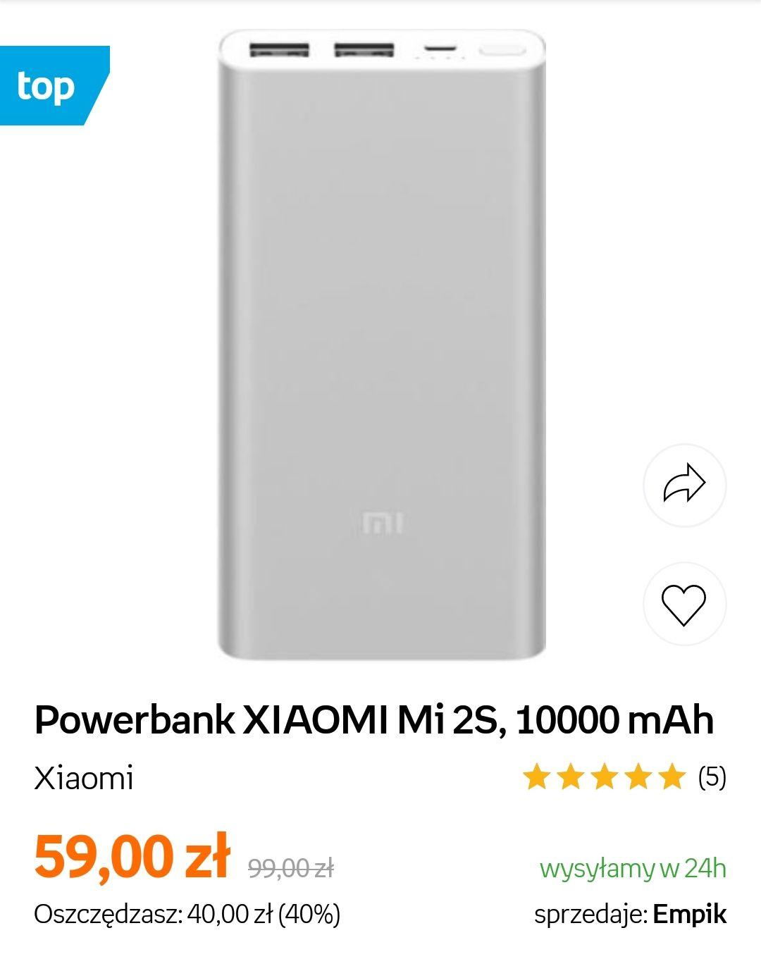 Powerbank XIAOMI Mi 2S 10000 mAh