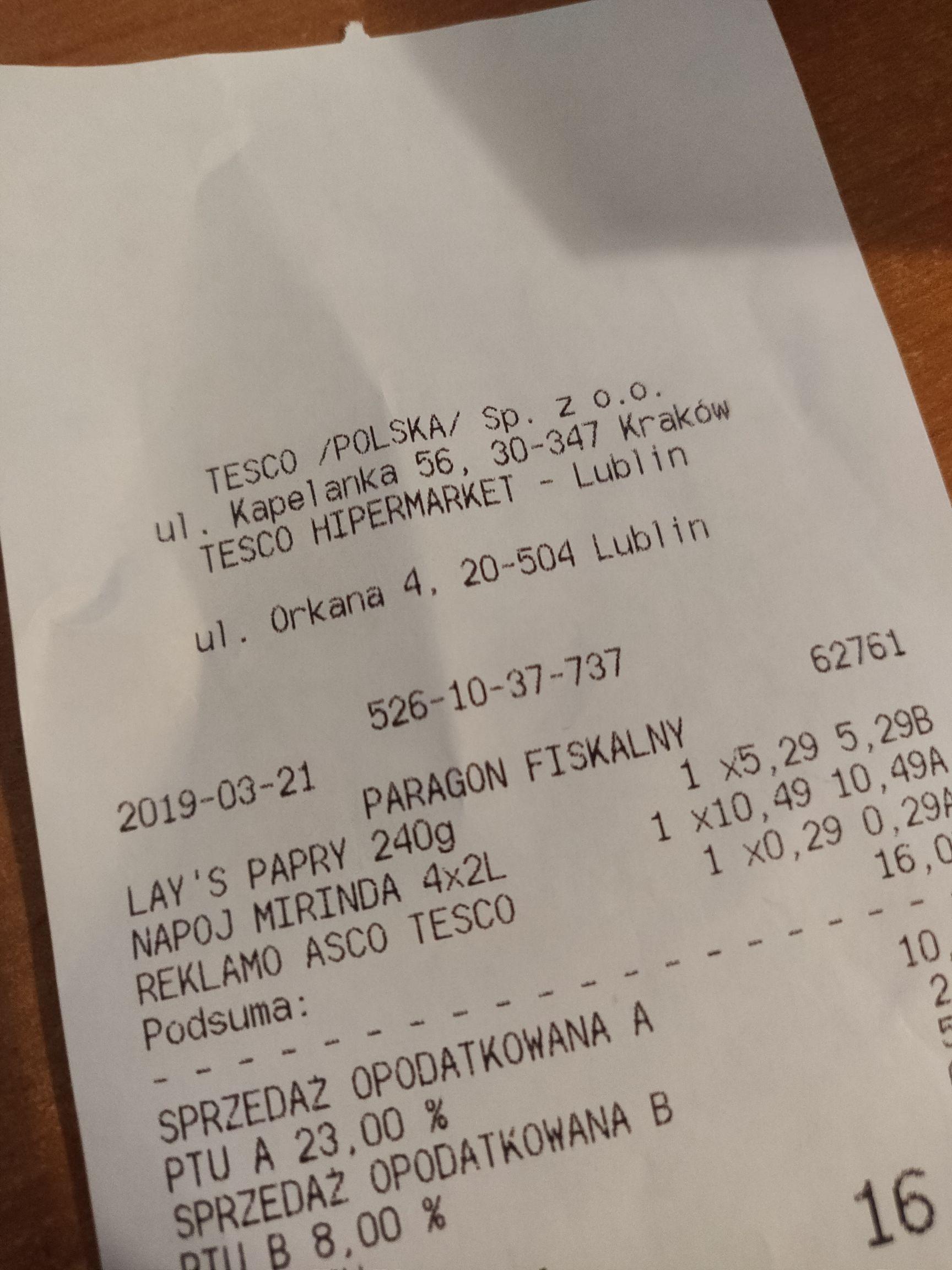 Mirinda, Pepsi, Pepsi Max 4x2l Tesco