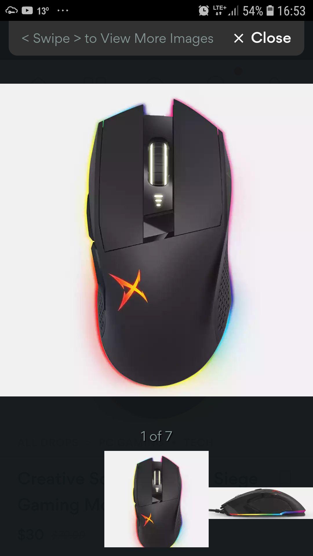 Mysz dla graczy Creative sound blasterx siege