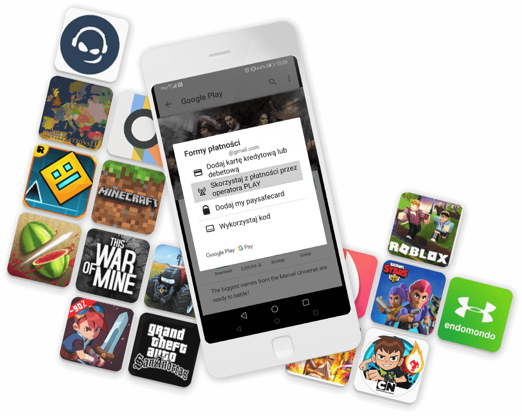 Zyskaj do 10 zł na pierwszy zakup w Google Play mwz 10,01