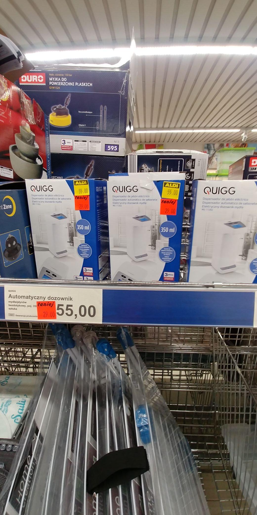 Elektryczny dozownik mydła Quigg @Aldi