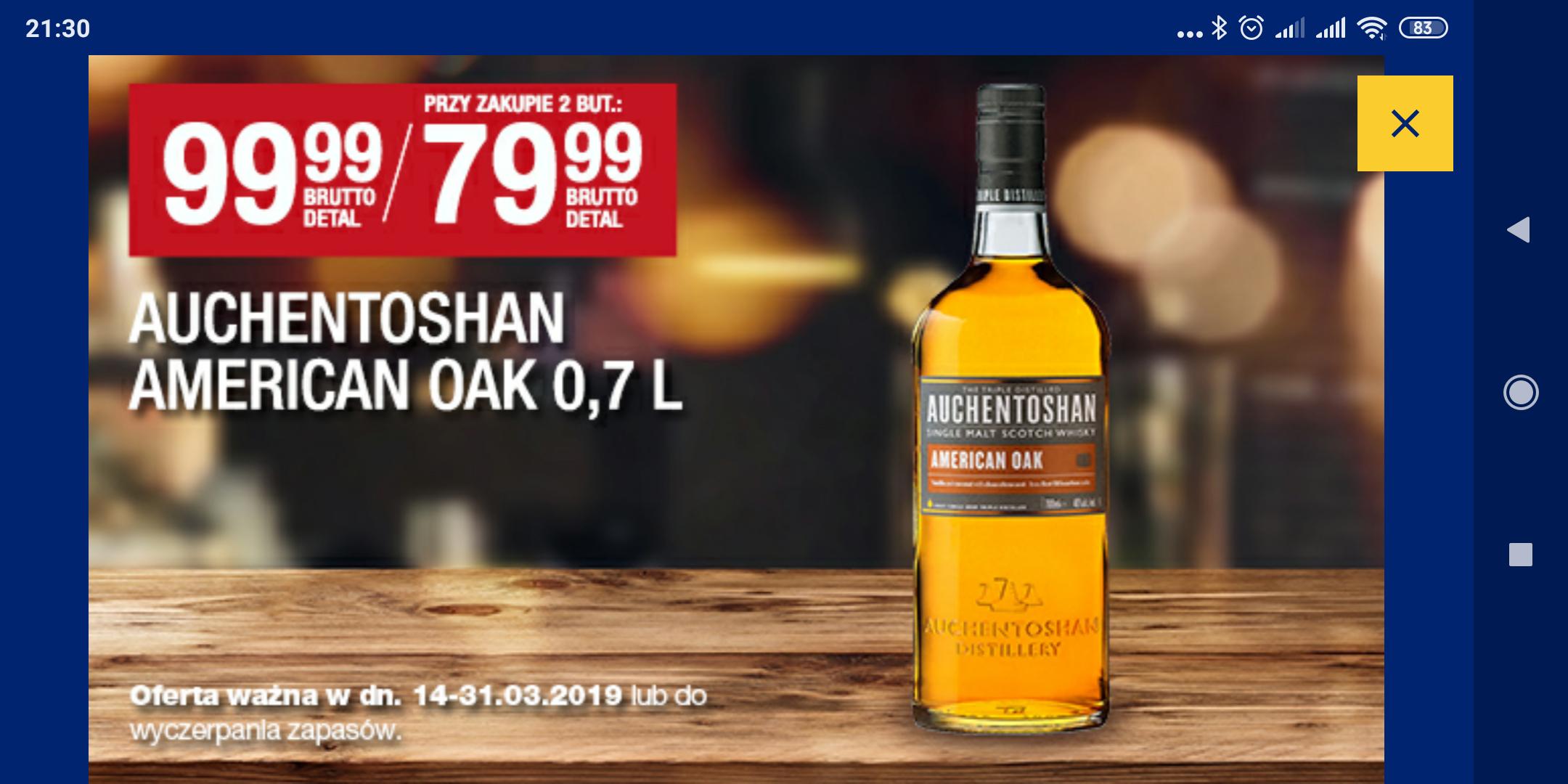Auchentoshan whisky w Makro