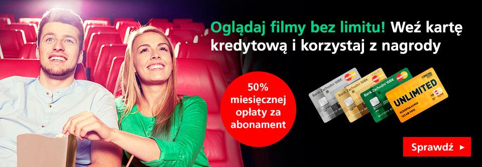 50%  zniżki Cinema City Unlimited z Kartą kredytową BZWBK