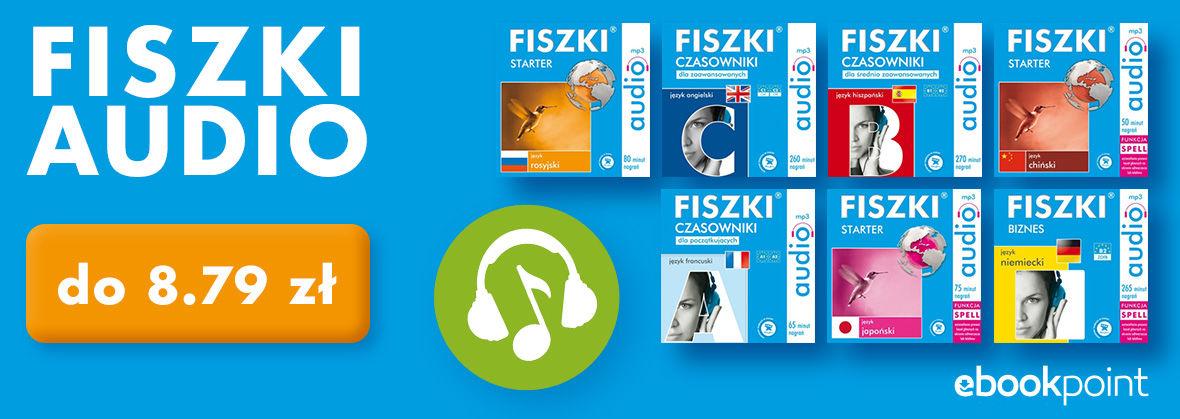 Fiszki audio (różne języki) po 4,40-8,79 zł. Słówka, czasowniki, biznes, matura @ ebookpoint