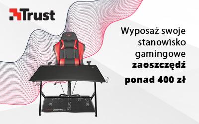 Trust Gamingowy fotel + mata + biurko, 3w1