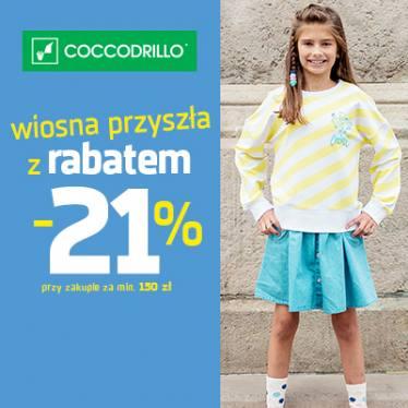 21% rabatu przy zakupach od 150zł @ Coccodrillo