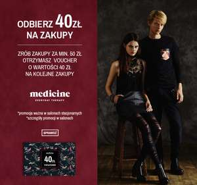 Voucher 40zł na kolejne zakupy @ Medicine