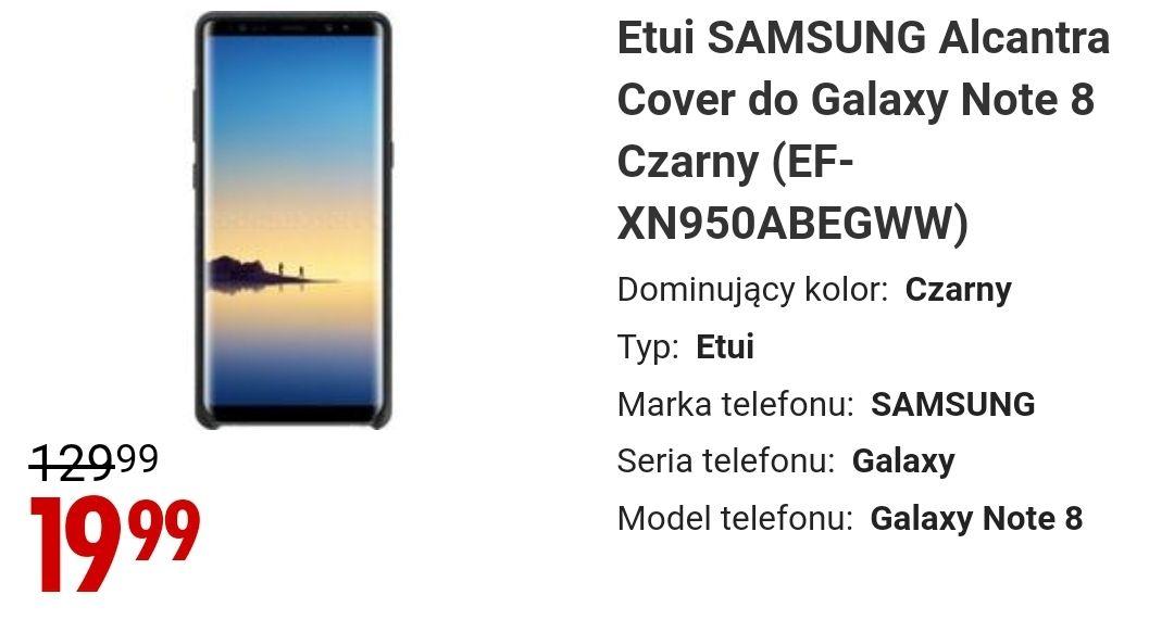 Etui Alcantara do Galaxy Note 8 @ Media Expert