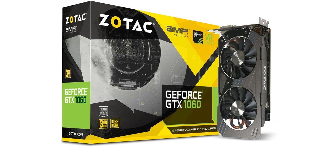 Karta graficzna ZOTAC GEFORCE GTX 1060 AMP! 3GB GDDR5