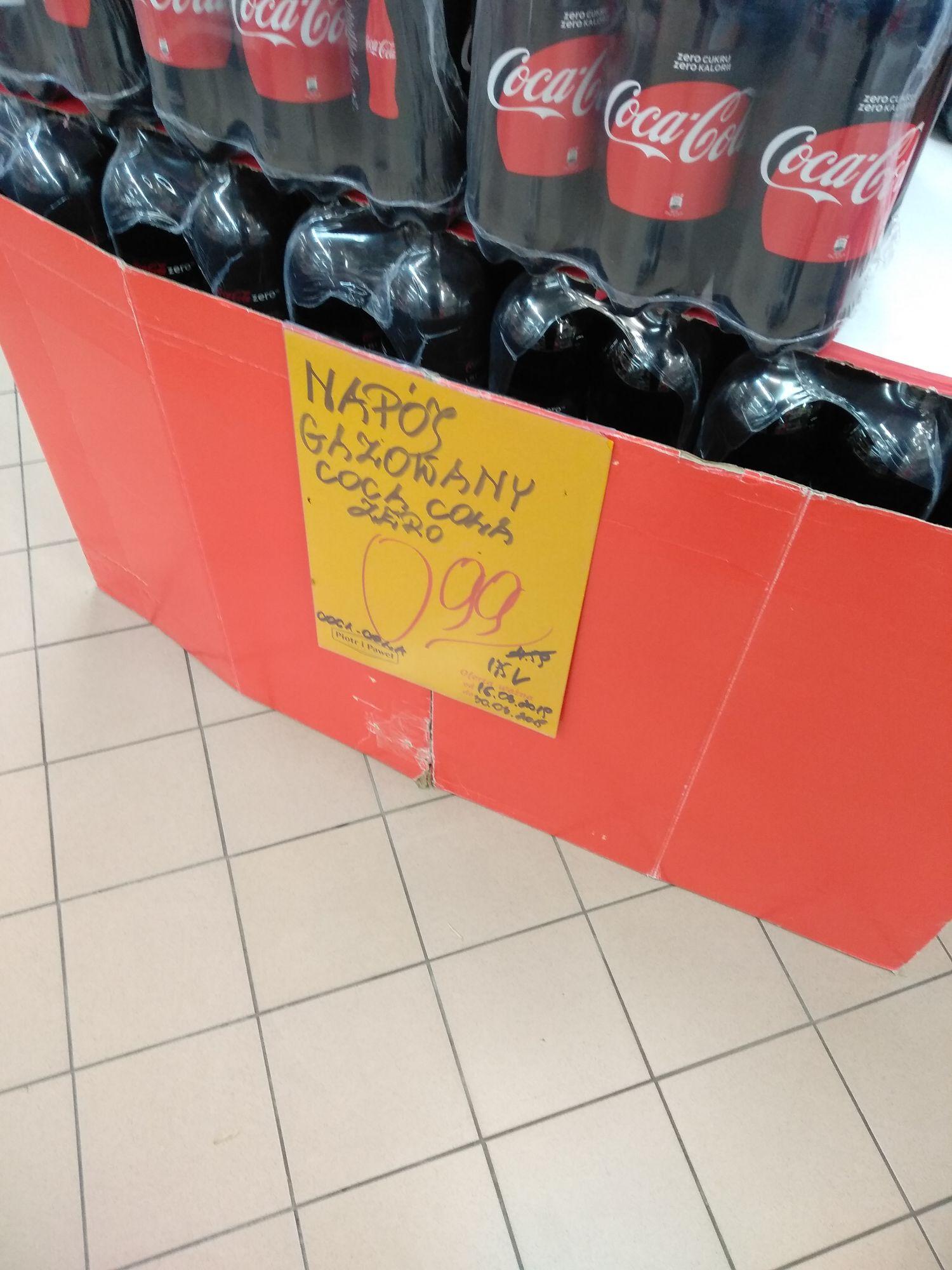 Coca Cola Zero 1,75L 0,99zł Gdańsk Matarnia Piotr i Paweł