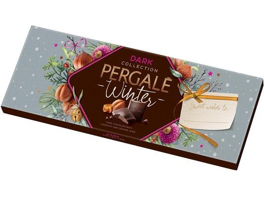 """Czekolada Pergale """"Winter"""" Dark Collection gorzka z orzechami laskowymi i chrupiącym karmelem 250g, a także 48 pralin za 12,99zł, Stokrotka"""