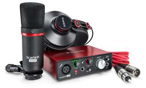 Zestaw audio Focusrite Scarlett Solo Studio interfejs + mikrofon + słuchawki amazon.co.uk