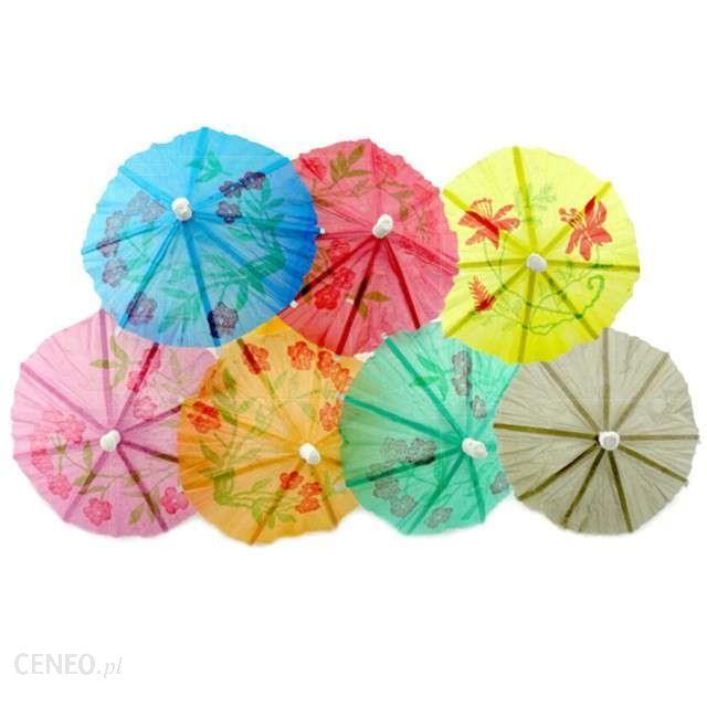 Papierowe parasolki dekoracyjne, np. do drinków, Godan, sztuk 10, Stokrotka