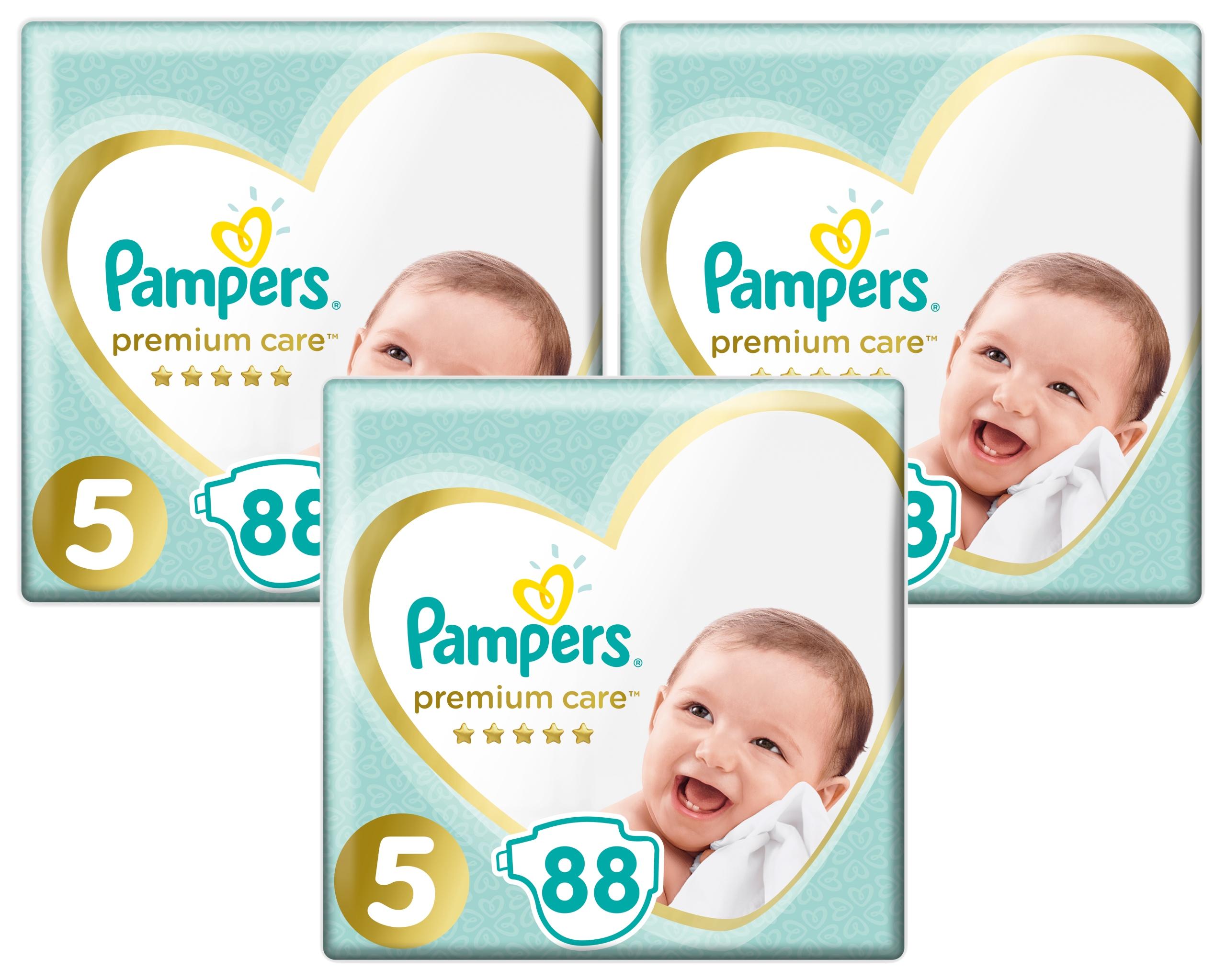 PAMPERS Pieluszki Premium Care 5 Junior 88 szt. X3 71 gr/szt