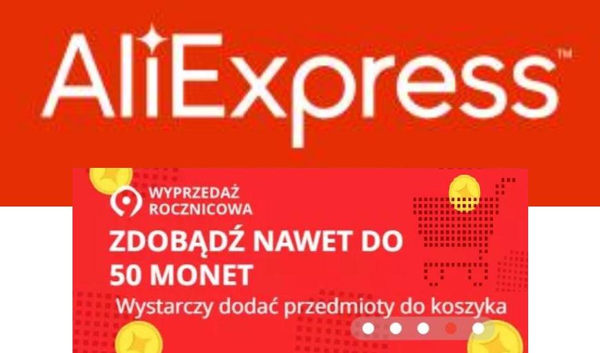 50 monet dziennie za dodanie produktów do koszyka od @Aliexpress