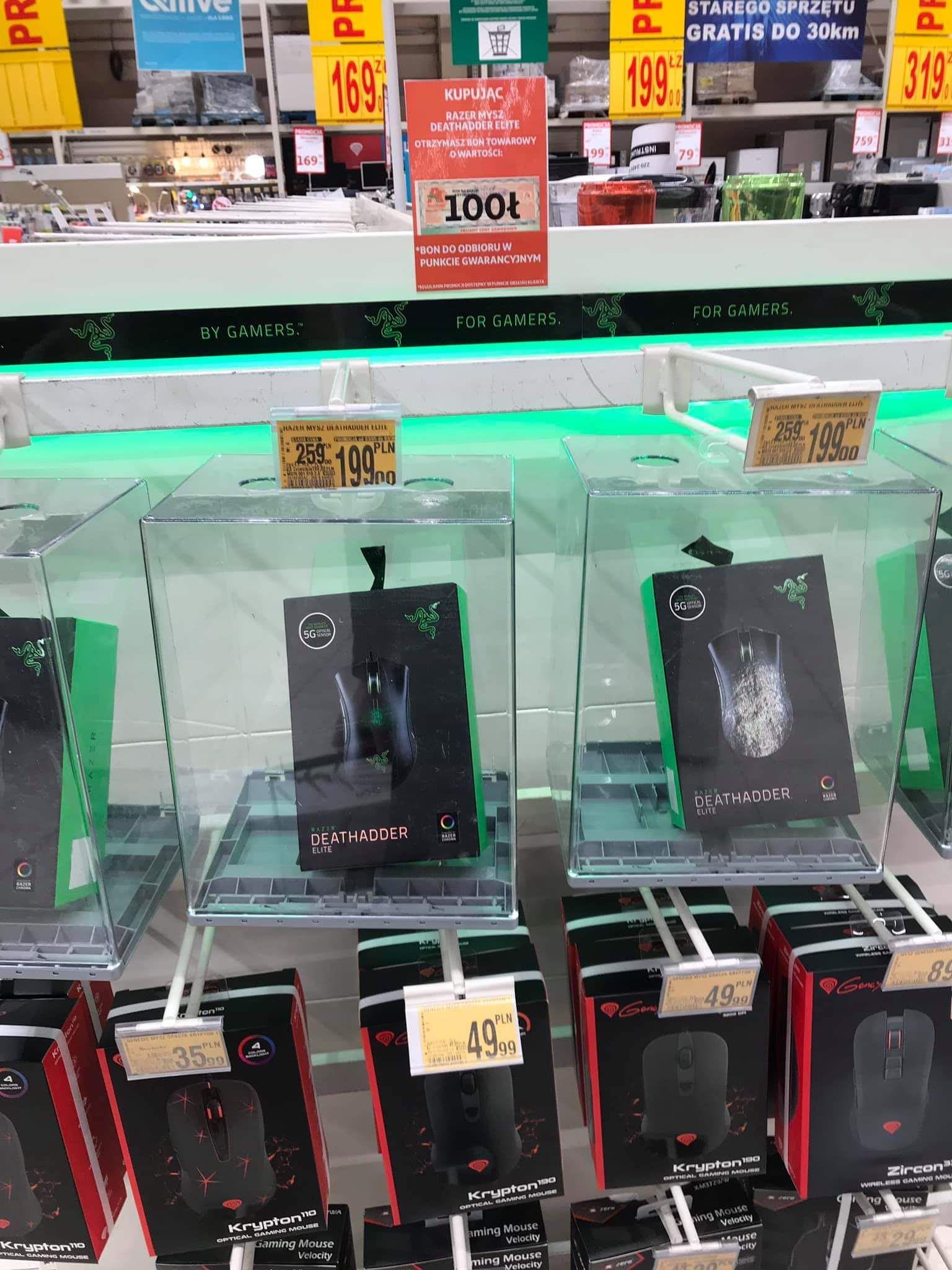 Mysz Razer DEATHADDER Elite + bon na 100zł @ Auchan (Warszawa)