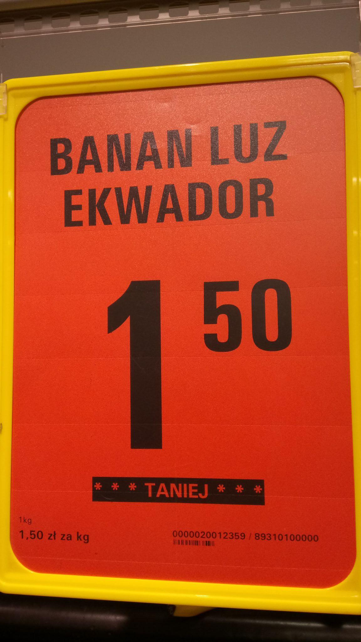 Banany w Netto tylko 1.50 zł