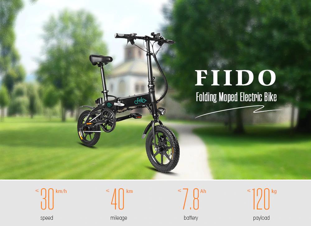 Składany rower elektryczny FIIDO D1 $379.99 @Gearbest