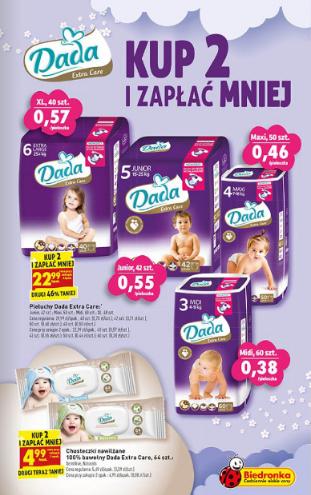 Dada Extra Care za 22,99zł + mleko NAN za 29,99zł (przy zakupie 2 szt.) @ Biedronka