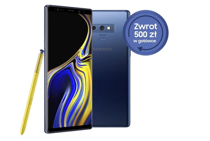 500 zł zwrotu na Samsung Galaxy Note 9