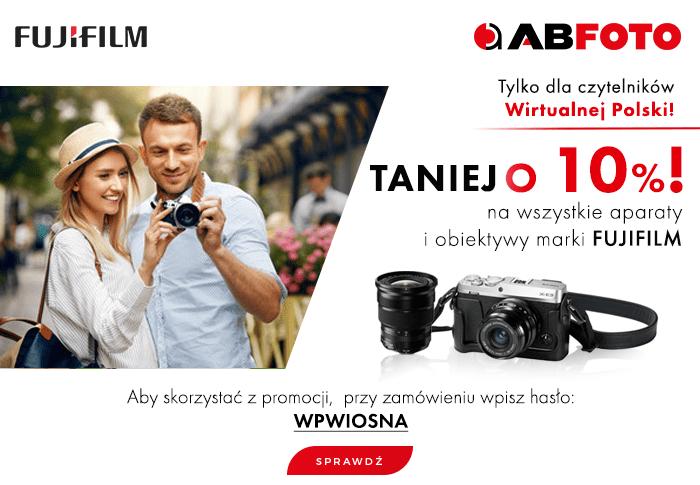 10 % rabatu na aparaty foto i obiektywy FujiFilm, najniższa cena na rynku