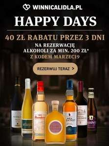 [winnicalidla] happy days - rabat 40 zł na alkohole