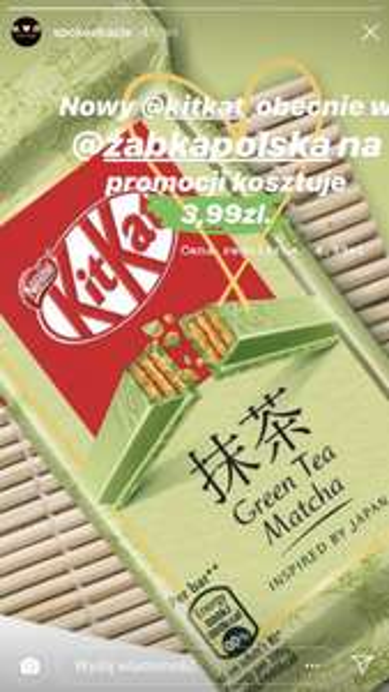 kit kat zielona herbata w żabce promocja ogólnopolska