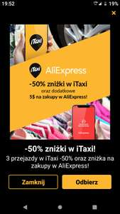 (3x -50% iTaxi) +  (-5$ Aliexpress) !