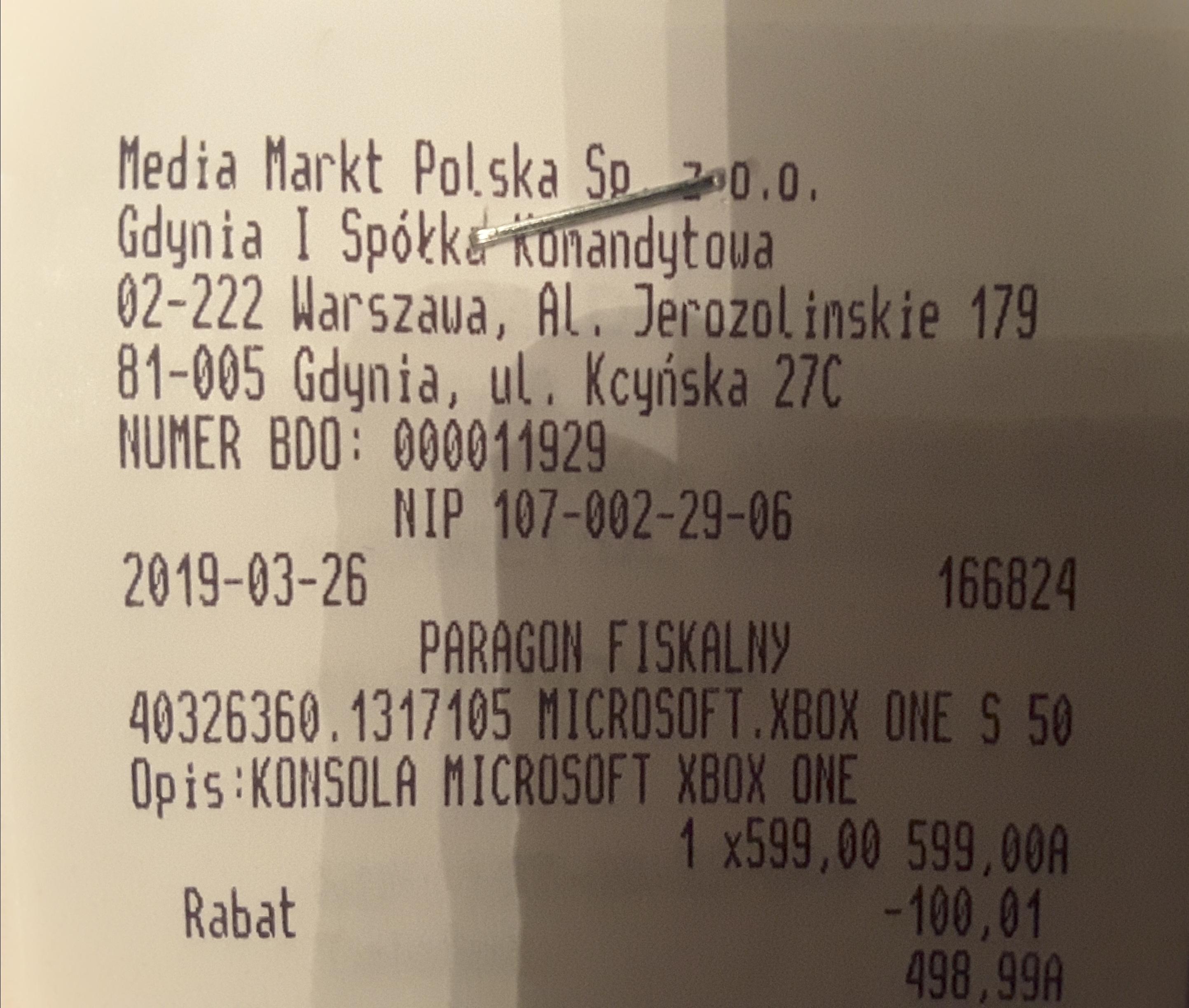 Konsola XBOX ONE S 500 GB + dodatki, Media Markt