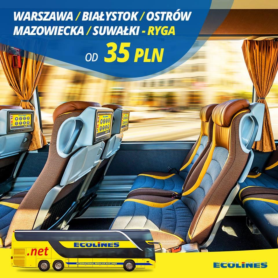 Ryga od 35 PLN (z Warszawa / Białystok / Ostrów Mazowiecka / Suwałki)