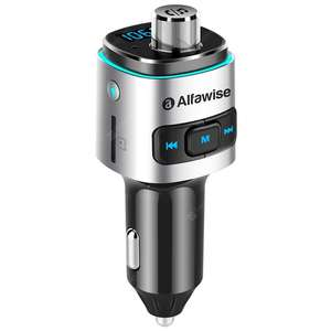 Ponownie Alfawise QC3.0 Bluetooth 4.2 FM Transmitter Car Charger
