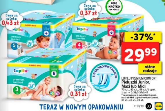 Pieluszki Lupilu Premium Mega Paka. Rozmiar 3,4,5 - 98/82/72sztuki