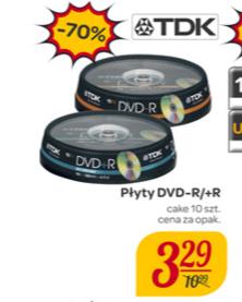 10szt. DVD-R/+R TDK Carrefour