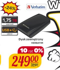 Dysk zewnętrzny 1,75TB Verbatim - Carrefour