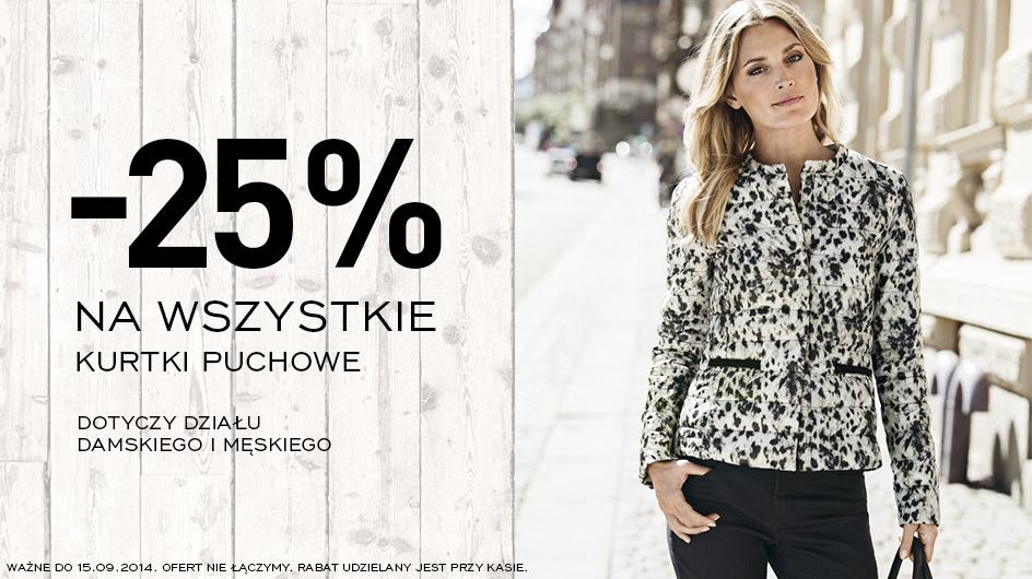 25% rabatu na wszystkie kurtki puchowe @ KappAhl