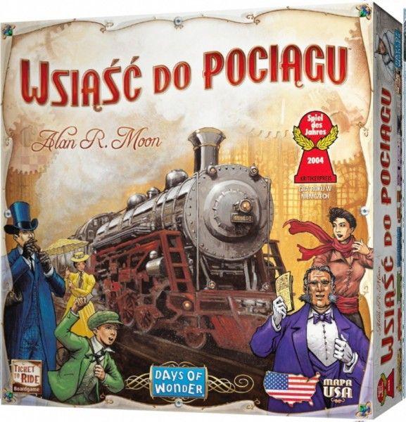 Wsiasc do pociagu USA gra planszowa @smarkacz.pl