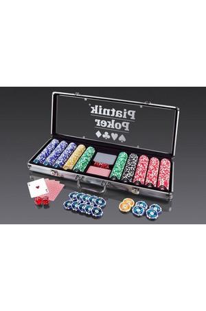merlin.pl: Piatnik - zestaw 500 żetonów (14g) do pokera w walizce