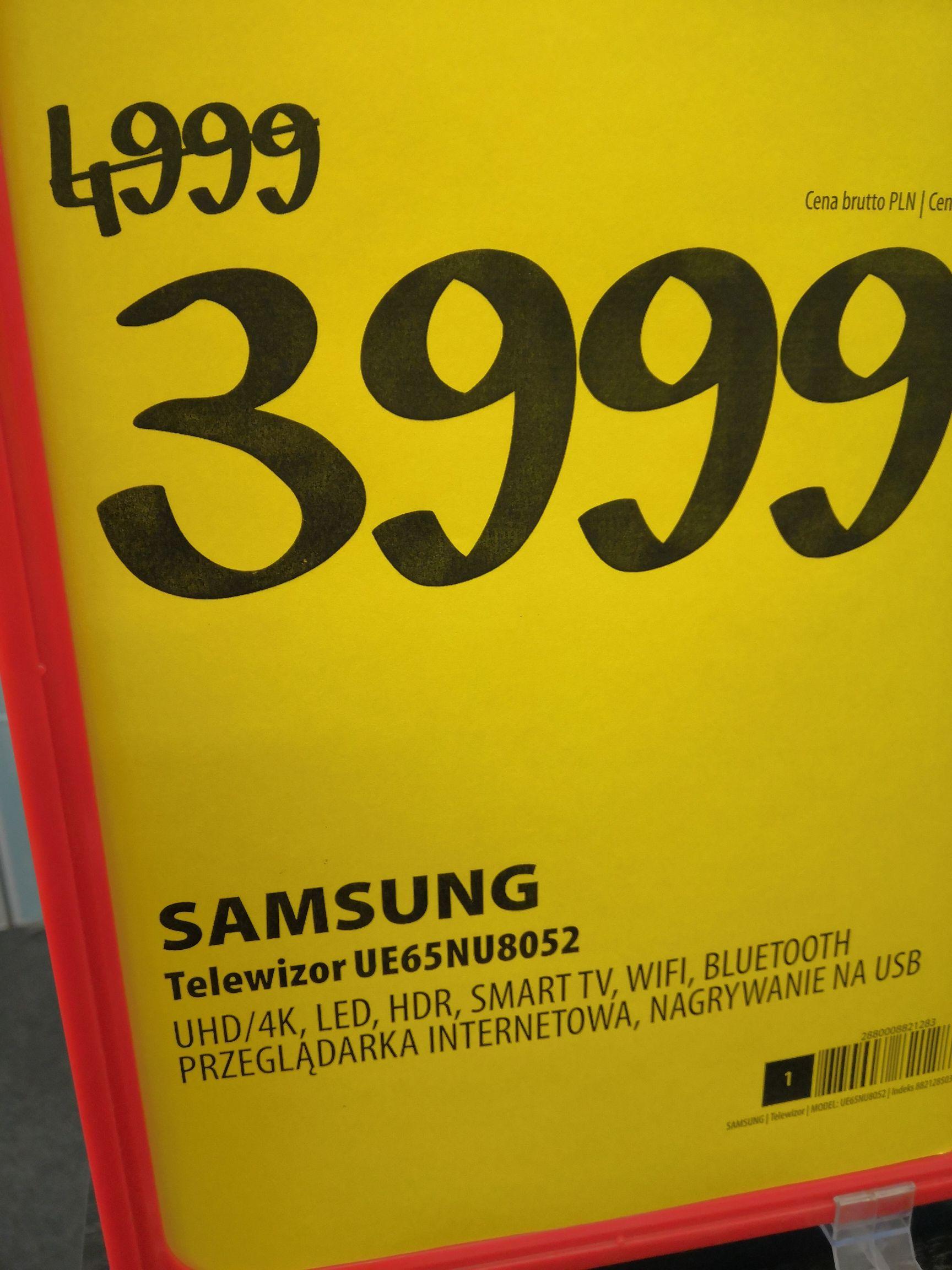 TV Samsung 65nu8052