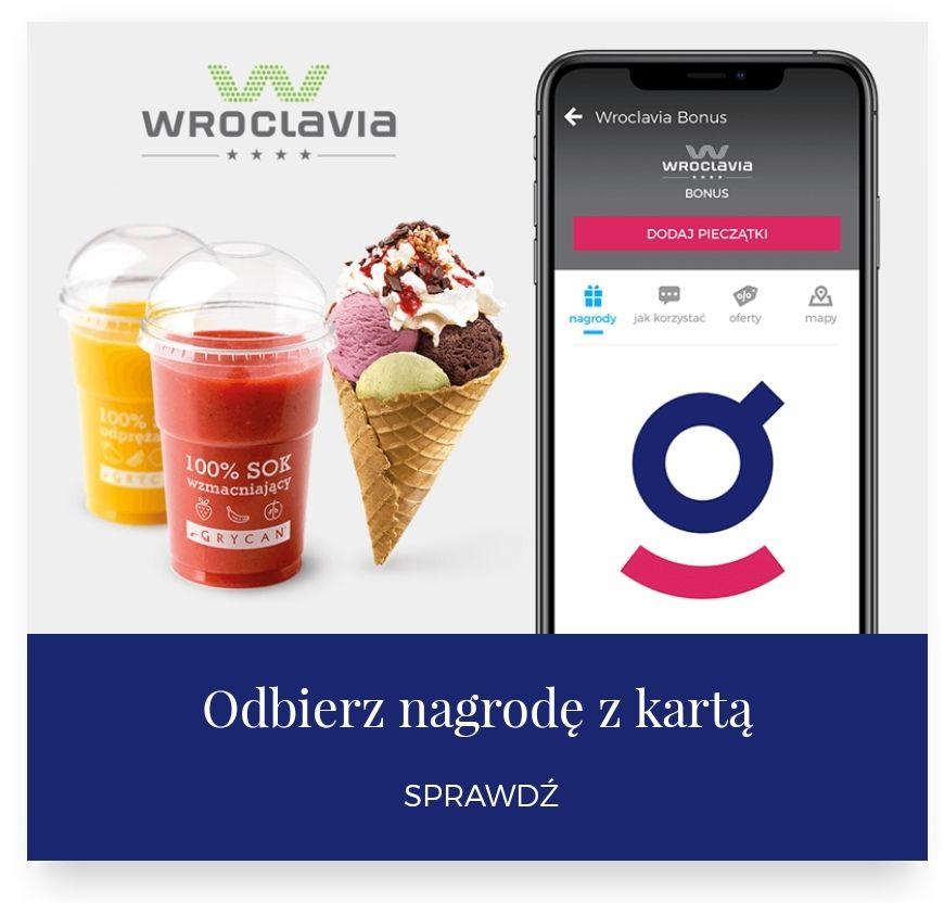 Gratis sok lub rożek lodowy Grycan z kartą Wroclavia Bonus
