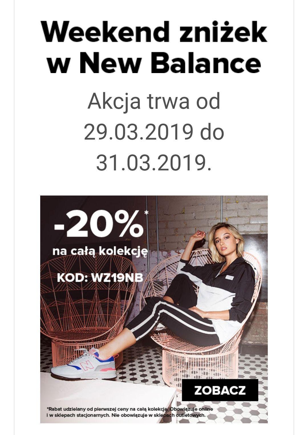 -20% w New Balance na całą kolekcję