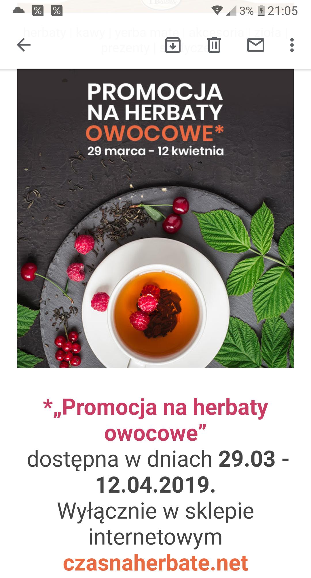 Sklep Czas na herbatę - promocja na herbaty owocowe