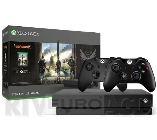 Xbox One X + Tom Clancy's The Division 2 + 2 pady i inne zestawy XBOX z kodami + za 47,4 zł Xbox Live Gold 3mies,