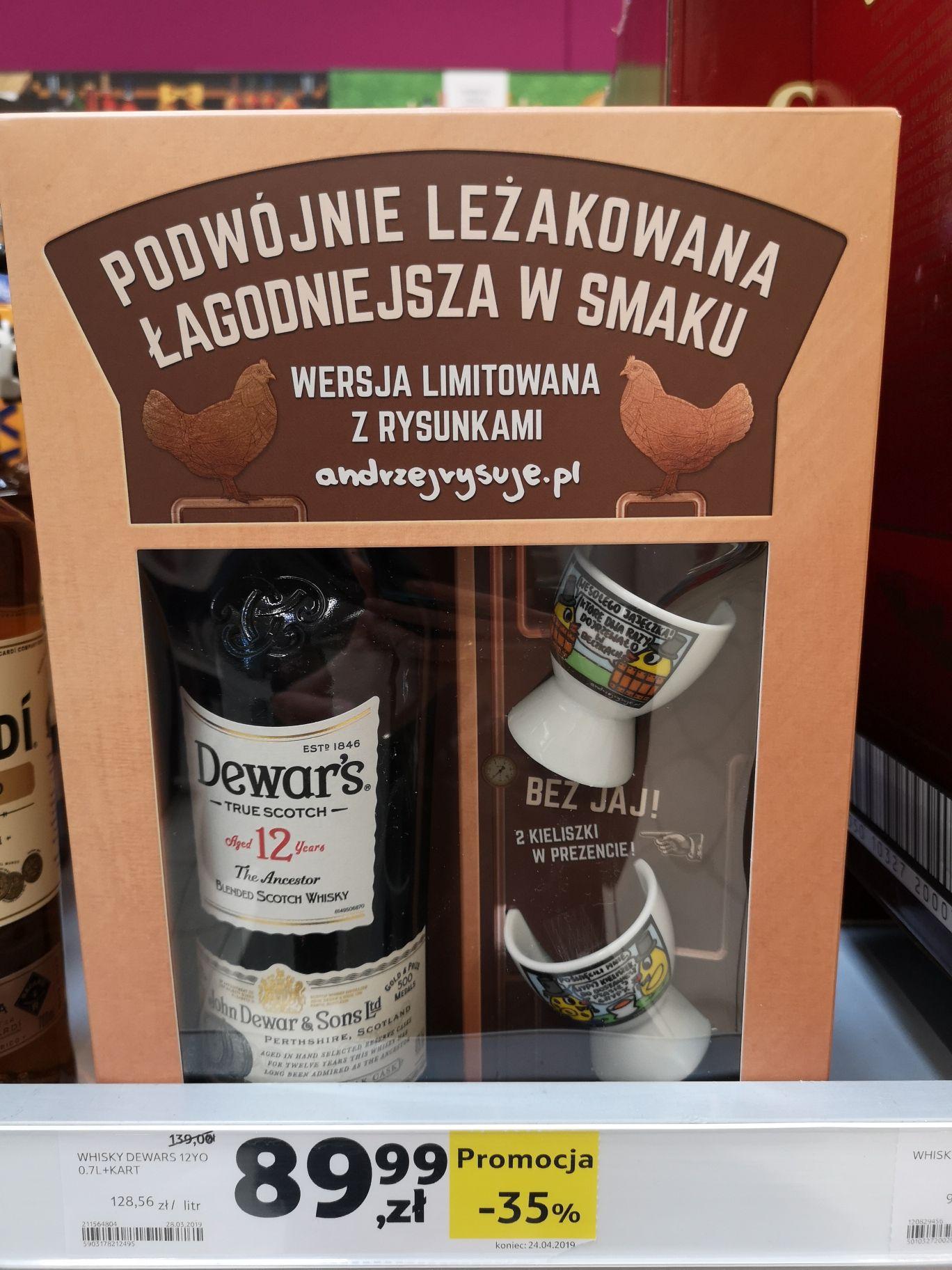 Ciekawa 12 letnia whisky Dewar's. Tesco Wawa